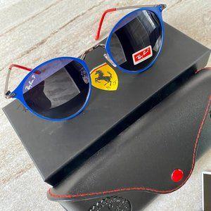 NWT RB3602 Ferrari Metal Frame Polarized Sunglasses 51MM